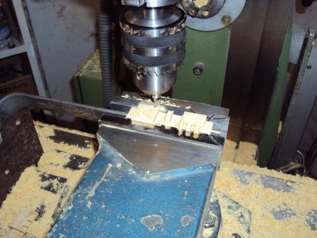 Fraisage patins de chenilles